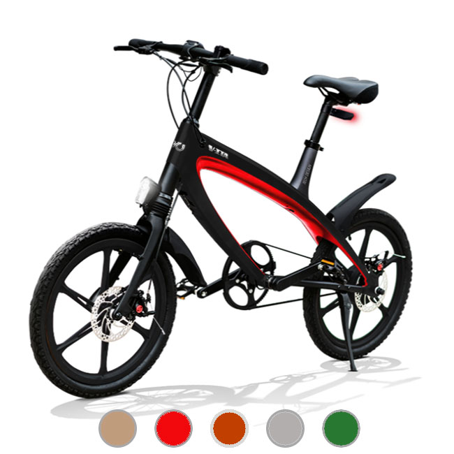 E-City Bike V-ITA Evolution Masterpieces mit schwarzem Rahmen Bluetooth-Technologie
