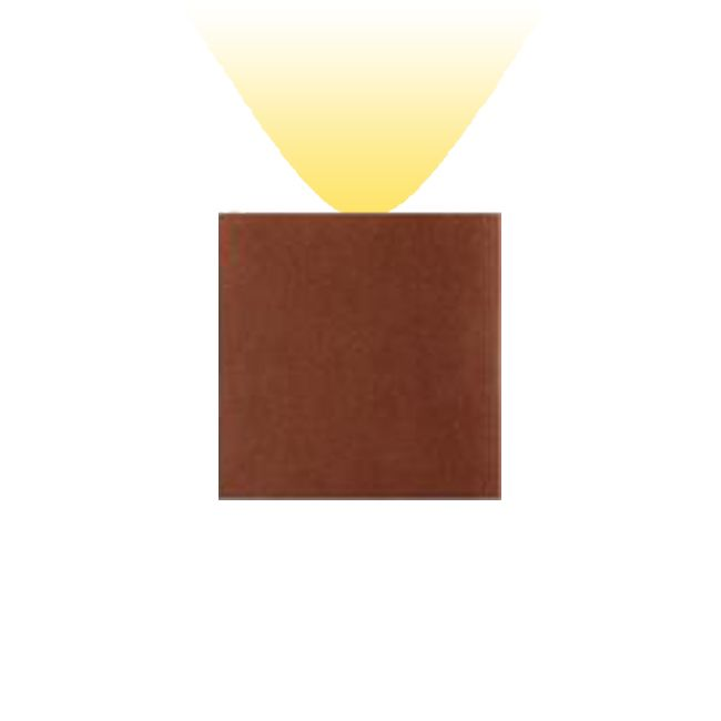 Artemide Outdoor Effetto 14 Quadro Wandleuchte LED 1  breitstrahlend 4W H 14 cm IP65 Rost