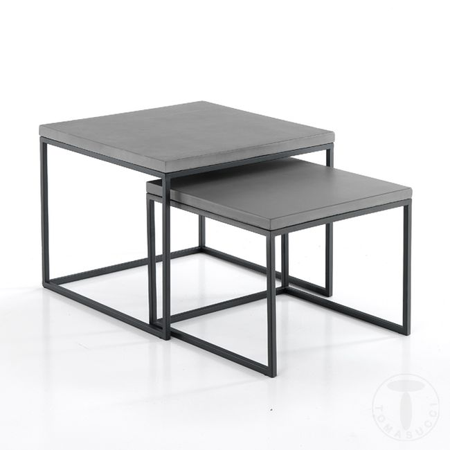 Tomasucci Couchtisch  Tadao Square 2-teiliges Set
