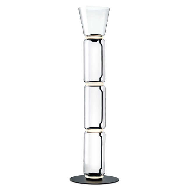 Flos Noctambule Stehleuchte 3 High Cylinders Cone Big Base H Modul 53 cm LED 54 B H 197 cm