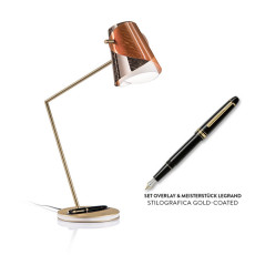 Slamp Tischlampe Overlay with Fountain pen LED 4W+1.5W H 52 cm