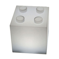 Akku-Lampe tragbar Smart & Green Cube² LED RGB + WHITE H 30 cm