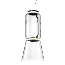 Flos Suspension Noctambule Low Cylinder und Cone H Modul 45 cm LED Licht