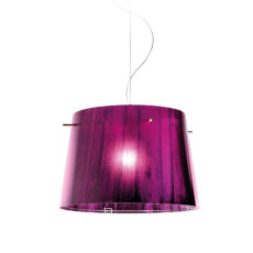 Slamp Woody Aussetzung Purple 1 Licht E27 Ø 37 cm