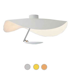 Catellani & Smith Deckenleuchte Lederam Manta CWS1 LED 17W Ø 60 cm
