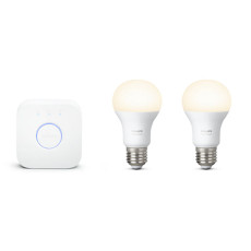 Philips Hue White Starter kit 2 Glühbirnen + Bridge E27 9,5W Ø 6,1 cm