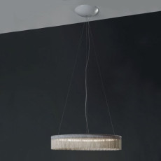 "Egoluce Suspension mit ""chainette"" Fransen Charleston LED 27W Ø 54 cm"
