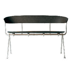 Magis Bench Officina L 125cm Struktur in Grau Anthrazit