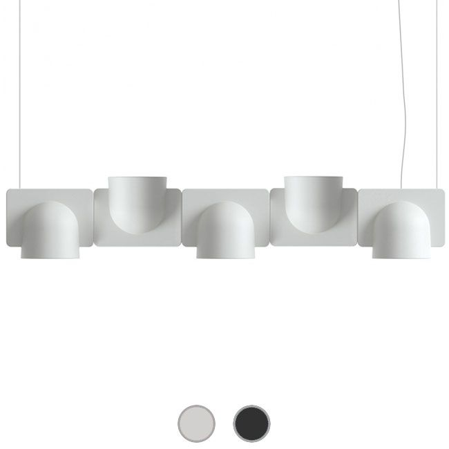 Fontana Arte Pendelleuchte Igloo 5 Down/Up LED 50W L 110 cm